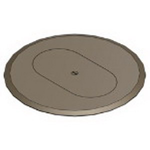 Steel City P-68-DRC-BRN MopTite™ Duplex Receptacle Floor Box Cover Plate; Non-Metallic, Brown