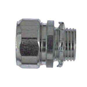 Steel City HC-403 Conduit Connector; 1 Inch, Threadless Compression, Malleable Iron