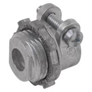Steel City XC-275 Straight Non-Insulated Conduit Connector; 1-1/2 Inch, Die-Cast Zinc, Squeeze x Threaded
