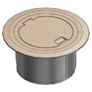 Steel City 68R-CST-BGE Duplex/GFCI Receptacle/2-Port Keystone Data 2-Compartment Floor Box Cover; Polycarbonate, Beige