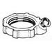 Steel City LG-408 Grounding Locknut; 3 Inch, Threaded x Screw, Malleable Iron