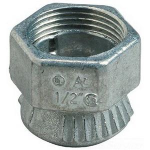 Steel City TC-201-SC Conduit Connector; 1/2 Inch, Die-Cast Zinc