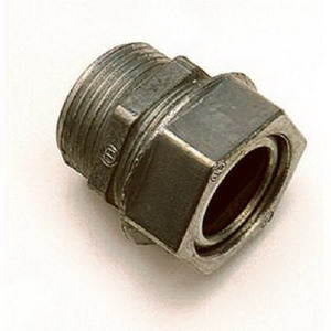 Steel City WT204B Straight Watertight Connector; 1-1/4 Inch, Steel
