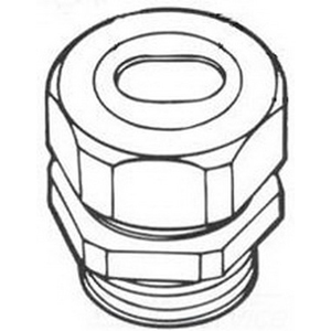 Steel City WT206D Straight Watertight Connector; 2 Inch, Steel