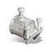 Steel City TX210 Combination Coupling; 1/2 Inch EMT x 3/8 Inch Flex, Die-Cast Zinc, Set-Screw x Screw Clamp
