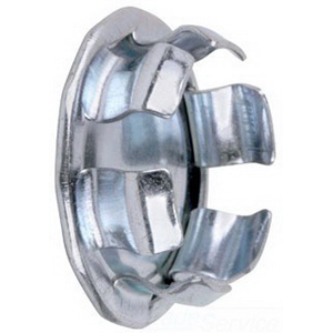 Steel City BL-115 Round Knockout Blank; 1-1/2 Inch, Steel, Zinc-Plated, Snap-In Mount