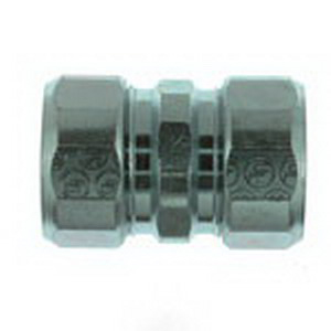 Steel City HK-406 Conduit Coupling; 2 Inch, Threadless Compression, Malleable Iron