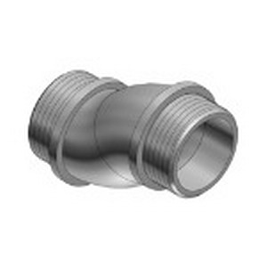 Steel City HO-222 Rigid Conduit Offset Nipple; 3/4 Inch, MNPT, 2.620 Inch Length, Die-Cast Zinc