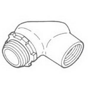 Steel City HL-611 Elbow With Gasket; 1/2 Inch, Die-Cast Zinc, FNPT