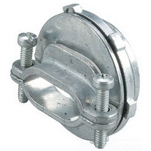 Steel City NC-061 Non-Watertight Cable Connector; 2 Inch, Die-Cast Zinc, Screw Clamp x MNPT