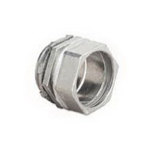 Steel City TC214SC Non-Insulated Conduit Compression Connector; 1-1/4 Inch MNPT, Die-Cast Zinc