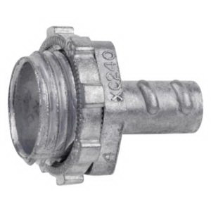 Steel City XC-240 Non-Insulated Conduit Connector; 3/8 Inch, Die-Cast Zinc, Screw-In x MNPT