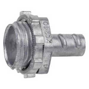 Steel City XC-242 Non-Insulated Conduit Connector; 3/4 Inch, Die-Cast Zinc, Screw-In x MNPT