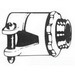 Steel City XC-278A Straight Non-Insulated Conduit Connector; 3-1/2 Inch, Die-Cast Zinc, Squeeze x Threaded