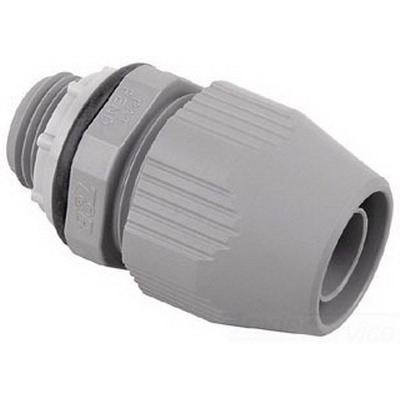 Steel City LT-501 Straight Liquidtight Flexible Connector; 1/2 Inch, Nylon, Threaded