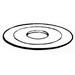 Steel City WA-184 Reducing Washer; 3 Inch x 1-1/4 Inch, Steel