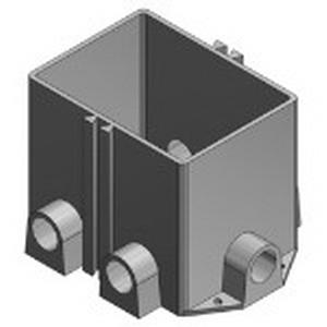 Steel City 642-P 2-Gang Rectangular Floor Box; 5-3/8 Inch Depth, Polymer, 170 Cubic-Inch