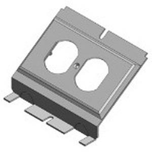 Steel City 664-RP Duplex Receptacle Face Plate; Steel