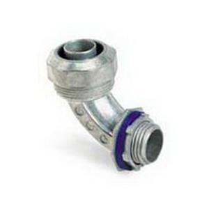 Steel City LT-291 90 Degree Liquidtight Flexible Conduit Connector; 1/2 Inch, Die-Cast Zinc, Threaded
