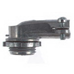 Steel City XC-292 Non-Insulated 90 Degree Conduit Connector; 3/4 Inch, Die-Cast Zinc, Captive Screw Clamp x MNPT
