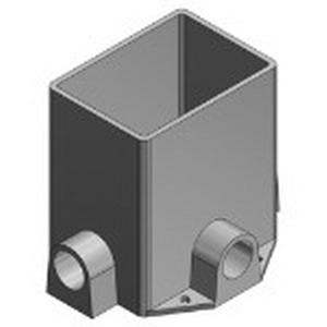 Steel City 641-P 1-Gang Rectangular Floor Box; 5-3/8 Inch Depth, Polymer, 85 Cubic-Inch