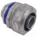 Steel City LT-204 Straight Liquidtight Flexible Conduit Connector; 1-1/4 Inch, Die-Cast Zinc, Threaded