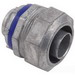 Steel City LT-205 Straight Liquidtight Flexible Conduit Connector; 1-1/2 Inch, Die-Cast Zinc, Threaded
