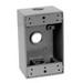 Thepitt TP7110 2-Gang Weatherproof Outlet Box; 2 Inch Depth, Die-Cast Aluminum, Gray