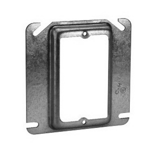 Thepitt TP482 1-Device Raised Square Mud-Ring; 4 Inch Width x 1/4 Inch Depth x 4 Inch Height, Steel, 1.8 Cubic-Inch