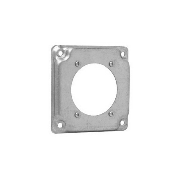 Thepitt TP518 Metalguard™ Single Receptacle Raised Protective Square Box Cover; Steel, 5.5 Cubic-Inch, 1/2 Inch Depth