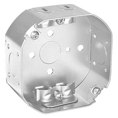 Thepitt TP260 Octagon Outlet Box; 1-1/2 Inch Depth, Steel