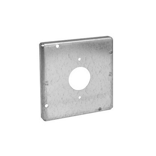 Thepitt TP730 Single Receptacle Raised 4-11/16 Inch Square Box Raised Cover; Steel, 9 Cubic-Inch, 1/2 Inch Depth