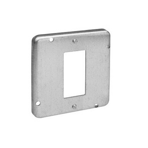 Thepitt TP738 GFCI Receptacle Raised 4-11/16 Inch Square Box Raised Cover; Steel, 9 Cubic-Inch, 1/2 Inch Depth