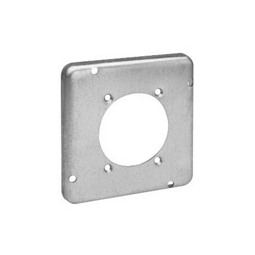 Thepitt TP734 Power Outlet Raised 4-11/16 Inch Square Box Raised Cover; Steel, 9 Cubic-Inch, 1/2 Inch Depth