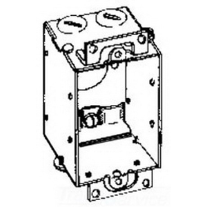 Thepitt TP116 1-Gang Switch Box; 2 Inch Depth, Steel, 10 Cubic-Inch, Natural