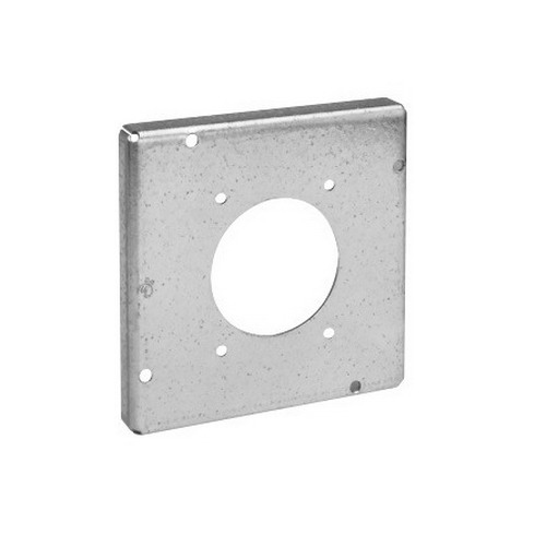 Thepitt TP732 Range/Dryer Receptacle Raised 4-11/16 Inch Square Box Raised Cover; Steel, 9 Cubic-Inch, 1/2 Inch Depth