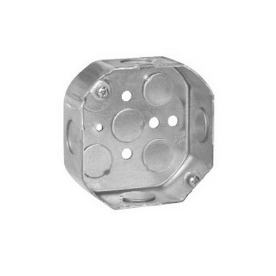Thepitt TP290 Octagon Outlet Box; 2-1/8 Inch Depth, Steel