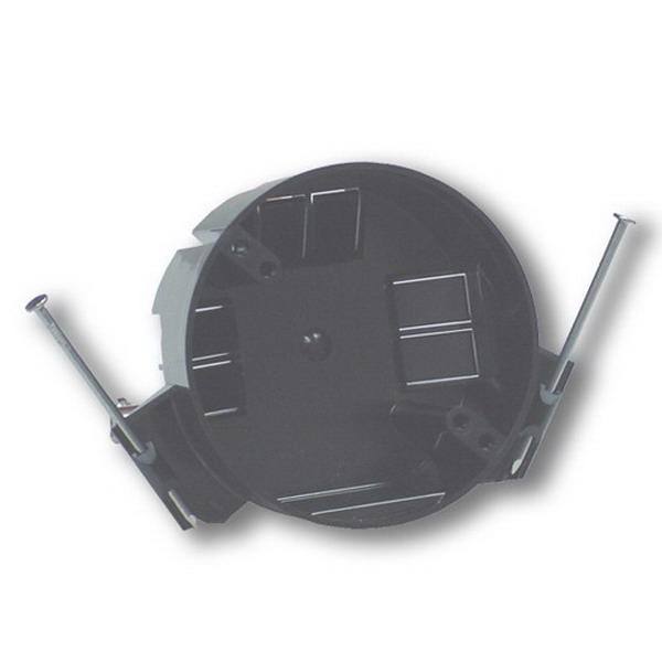 Thepitt TP16111 Round Ceiling Box; 2-1/4 Inch Depth, PVC, 20.3 Cubic-Inch, Black