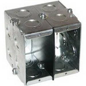 Thepitt TP675 Gangable Masonry Box; 3-1/2 Inch Depth, Steel, 22 Cubic-Inch, Natural