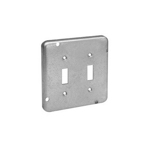 Thepitt TP726 Toggle Raised 4-11/16 Inch Square Box Raised Cover; Steel, 9 Cubic-Inch, 1/2 Inch Depth