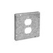 Thepitt TP722 Duplex Receptacle Raised 4-11/16 Inch Square Box Raised Cover; Steel, 9 Cubic-Inch, 1/2 Inch Depth