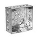 Thepitt TP525 Square Outlet Box; Welded Steel, 4-11/16 Inch Width x 2-1/8 Inch Depth, 44 Cubic-Inch, 16-Knockouts