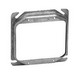 Thepitt TP499 2-Device Raised Square Mud-Ring; 4 Inch Width x 5/8 Inch Depth x 4 Inch Height, Steel, 5/8 Inch Depth, 8 Cubic-Inch