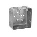 Thepitt TP395 Square Outlet Box; Drawn Steel, 4 Inch Width x 2-1/8 Inch Depth, 30.3 Cubic-Inch, 17-Knockouts