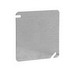 Thepitt TP472 4 Inch Flat Square Blank Box Cover; Steel