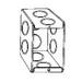 Thepitt TP682 1-Gang Masonry Box; 2-1/2 Inch Depth, Steel, 15.5 Cubic-Inch, Natural