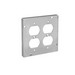 Thepitt TP728 Duplex Receptacle Raised 4-11/16 Inch Square Box Raised Cover; Steel, 9 Cubic-Inch, 1/2 Inch Depth