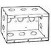 Thepitt TP684 3-Gang Masonry Box; 2-1/2 Inch Depth, Steel, 46.5 Cubic-Inch, Natural