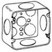 Thepitt TP562 Square Outlet Box; Drawn Steel, 4-11/16 Inch Width x 2-1/8 Inch Depth, 42 Cubic-Inch, 9-Knockouts