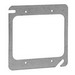 Thepitt TP494 2-Device Flat Square Mud-Ring; 4 Inch Width x 4 Inch Height, Steel